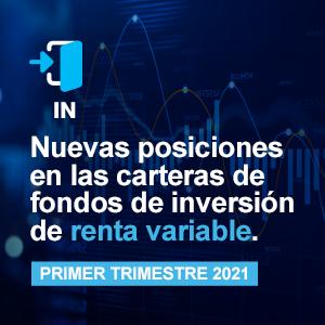 Nuevas entradas de posición en las carteras de fondos de inversión del primer trimestre de 2021